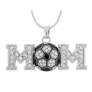 Jewelry - ⚽️Soccer Mom Silver Crystal Rhinestone Necklace